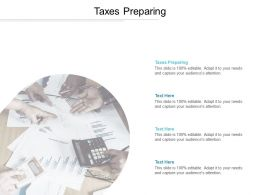 Taxes Preparing Ppt Powerpoint Presentation Background Cpb