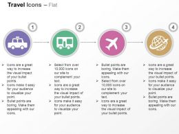 Taxi Bus Plane Global Travel Ppt Icons Graphics