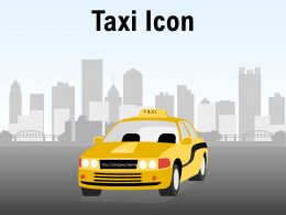 Taxi Icon Individual Location Luggage Signboard