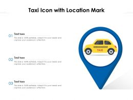 Taxi Icon With Location Mark
