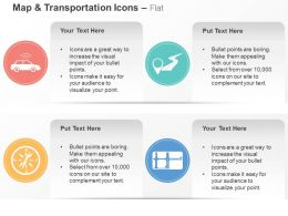 Taxi Service Location Indication Compass Path Ppt Icons Graphics