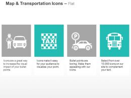 Taxi Stand Parking Bus Driver Ppt Icons Graphics