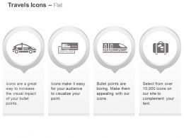 Taxi Travel Train Holiday Package Ppt Icons Graphics