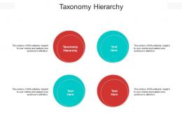 Taxonomy Hierarchy Ppt Powerpoint Presentation Styles Background Image Cpb