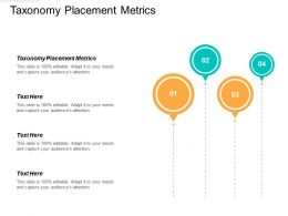 Taxonomy Placement Metrics Ppt Powerpoint Presentation Professional Templates Cpb