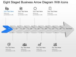 Tb Eight Staged Business Arrow Diagram With Icons Powerpoint Template Slide