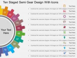 29288698 Style Circular Semi 10 Piece Powerpoint Presentation Diagram Infographic Slide