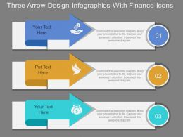 td Three Arrow Design Infographics With Finance Icons Flat Powerpoint Design