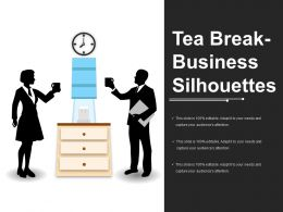 Tea Break Business Silhouettes