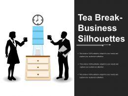 Tea Break Business Silhouettes