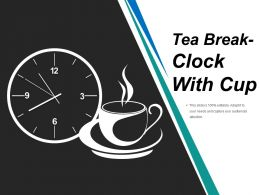 Tea Break Clock With Cup