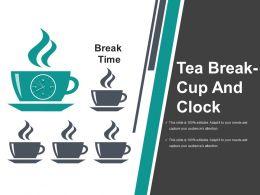 Tea Break Cup And Clock