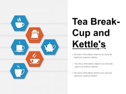 Tea Break Cup And Kettles