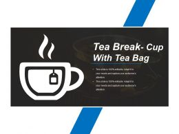 Tea Break Cup With Tea Bag