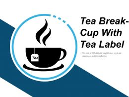 Tea Break Cup With Tea Lable