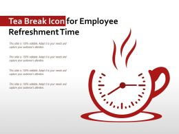 Tea Break Icon For Employee Refreshment Time