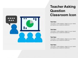 Teacher Asking Question Classroom Icon