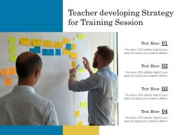 Teacher Developing Strategy For Training Session