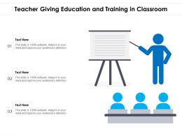 Teacher Giving Education And Training In Classroom