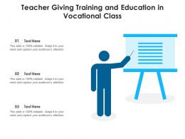 Teacher Giving Training And Education In Vocational Class