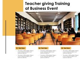 Teacher Giving Training At Business Event