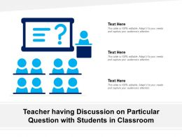 Teacher Having Discussion On Particular Question With Students In Classroom