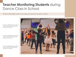 Teacher Monitoring Students During Dance Class In School