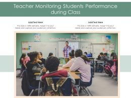 Teacher Monitoring Students Performance During Class