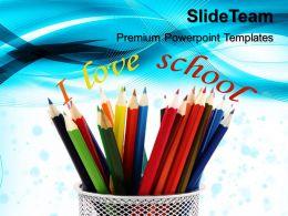 Teacher Powerpoint Templates Pencils Education Ppt Slides