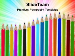 Teacher Powerpoint Templates Pencils Future Leadership Ppt Slide