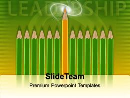 Teacher Powerpoint Templates Pencils Leadership Ppt Designs