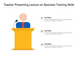 Teacher Presenting Lecture On Business Training Skills