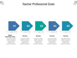 Teacher Professional Goals Ppt Powerpoint Presentation Inspiration Graphics Cpb