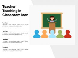 Teacher Teaching In Classroom Icon