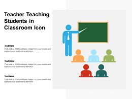 Teacher Teaching Students In Classroom Icon