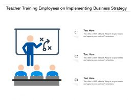 Teacher Training Employees On Implementing Business Strategy