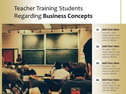 Teacher Training Students Regarding Business Concepts