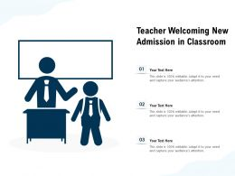 Teacher Welcoming New Admission In Classroom