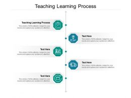 Teaching Learning Process Ppt Powerpoint Presentation Pictures Topics Cpb