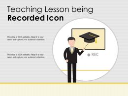 Teaching Lesson Being Recorded Icon