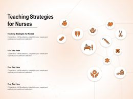 Teaching Strategies For Nurses Ppt Powerpoint Presentation Layouts Background