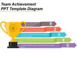 Team Achievement Ppt Template Diagram