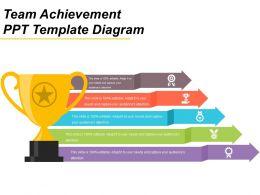 Team Achievement Ppt Template Diagram