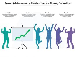 Team Achievements Illustration For Money Valuation Infographic Template