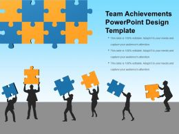 Team Achievements Powerpoint Design Template