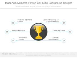 Team Achievements Powerpoint Slide Background Designs