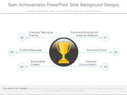 Team Achievements Powerpoint Slide Background Designs
