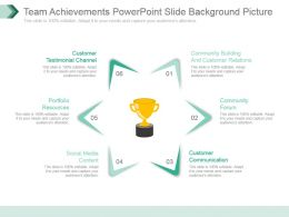 Team Achievements Powerpoint Slide Background Picture