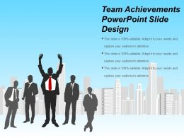 Team Achievements Powerpoint Slide Design