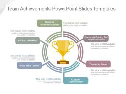 Team Achievements Powerpoint Slides Templates